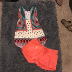 Tank top with matching shorts outfit